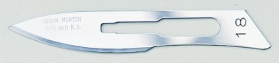 No 18 Sterile Carbon Steel Scalpel Blade Swann Morton Product No 0223