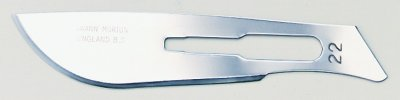 No 22 Sterile Carbon Steel Scalpel Blade Swann Morton Product No 0208