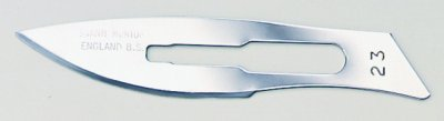 No 23 Sterile Carbon Steel Scalpel Blade Swann Morton Product No 0210