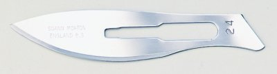 No 24 Sterile Carbon Steel Scalpel Blade Swann Morton Product No 0211