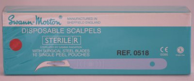 Swann Morton No 12D Sterile Disposable Scalpels 0518