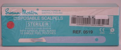 Swann Morton No 14 Sterile Disposable Scalpels 0519
