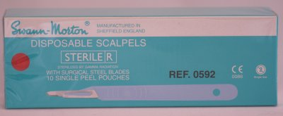 Swann Morton No 15T Sterile Disposable Scalpels 0592