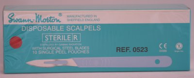 Swann Morton No 18 Sterile Disposable Scalpels 0523