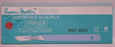 Swann Morton No 19 Sterile Disposable Scalpels 0524