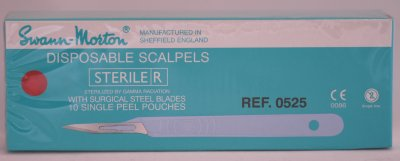 Swann Morton E/11 Sterile Disposable Scalpels 0525