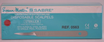 Swann Morton Sabre E/11 Sterile Disposable Scalpels 0563
