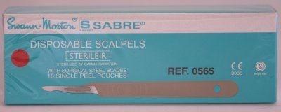 Swann Morton Sabre D/15 Sterile Disposable Scalpels 0565