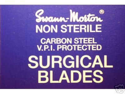 Swann Morton No 4 Selection Box of 100 Blades with No 4 Stainless Handle