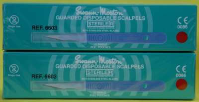 Swann Morton No 11 Guarded Sterile Disposable Scalpels 6603