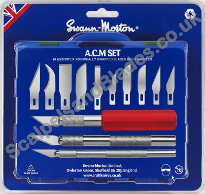 Swann Morton ACM Modelling Tool Set  product No 9101