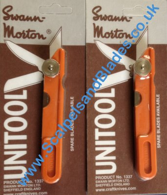 4 Unitool Handle Sets carded Swann Morton Product No 1337 / 4