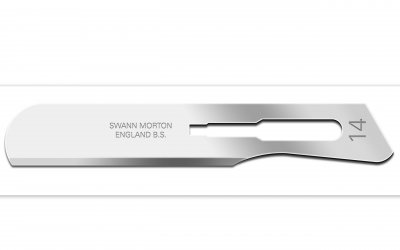 No 14 Sterile Stainless Steel Scalpel Blade Swann Morton Product No 0319