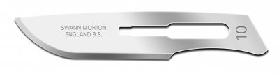 No 10 Sterile Stainless Steel Scalpel Blade Swann Morton Product No 0301 *
