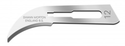 No 12 Sterile Carbon Steel Scalpel Blade Swann Morton Product No 0204