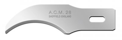 Swann Morton ACM No 28 Blade. Product No 9148 ( 5 carded )  or  9328 ( 50 Box )